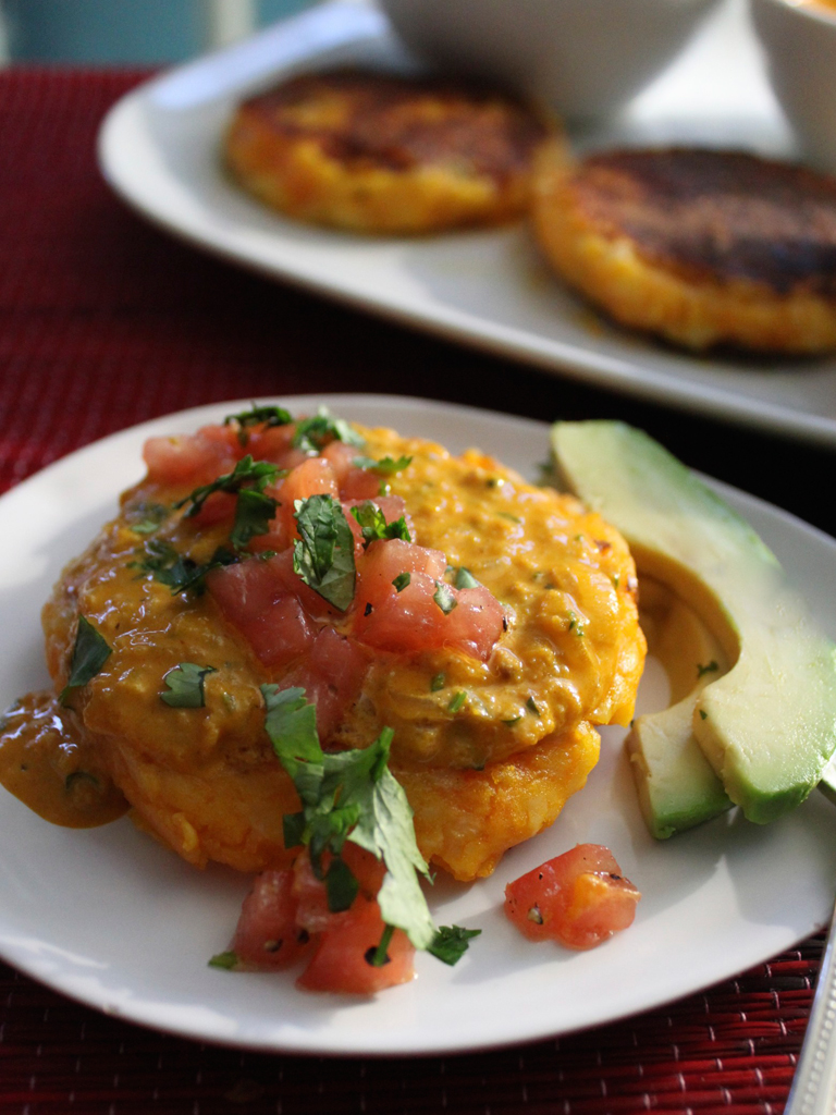 Ecuadoran Potato Cakes With Peanut Sauce Recipe — Dishmaps